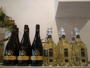 Nabídka vín prosecco